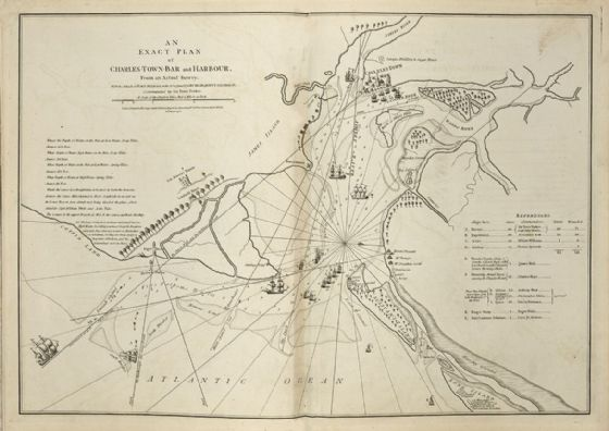 Map of Charleston Harbour South Carolina 1777 Print/Poster (5423)